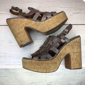 Lucky Brand Braided Leather Platform Sandal